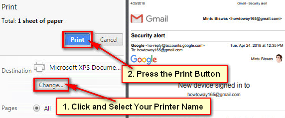 How to Print an Individual Email Message in Gmail
