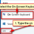 On-Screen Keyboard Shortcut Key