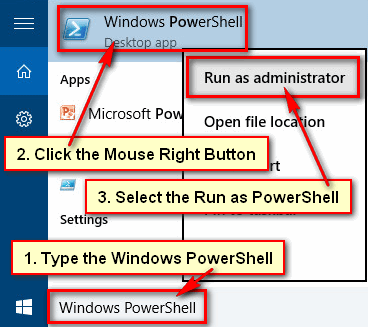 Open PowerShell as Administrator from cmd
