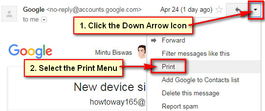 Print all Emails in Gmail