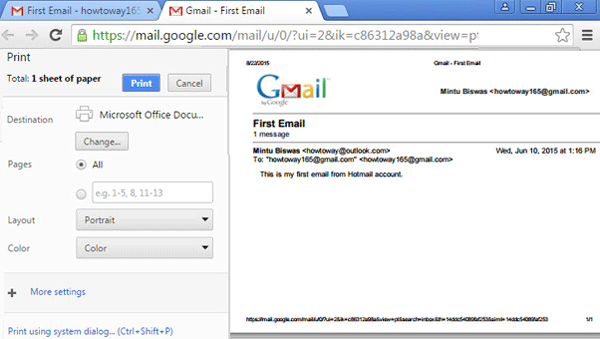 How to Print Email from Gmail