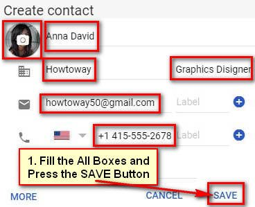 Add a New Contact in Gmail