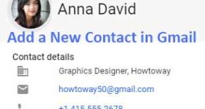Add a New Contact in Gmail from Computer and Mobile Phone
