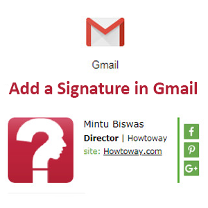 Add a Signature in Gmail with Logo, Image and Signature