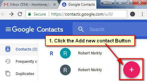 How to Add a New Contact in Gmail