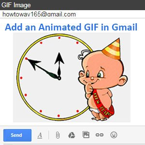 How to Add an Animated GIF in Gmail Email Message