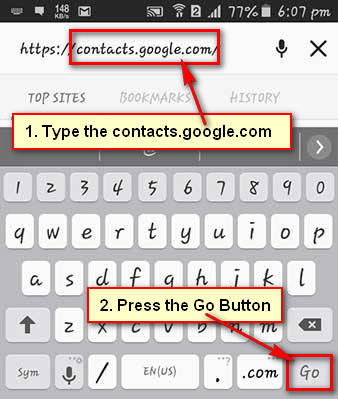 How to Export Contacts from Gmail to Andoird