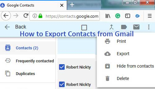 How to Export Contacts from Gmail to PC and Android Mobile