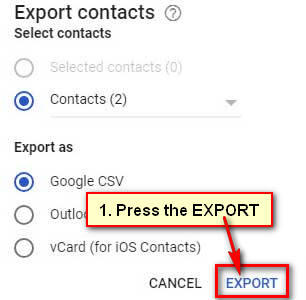 How to Export Contacts from Gmail to Excel