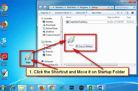 Add Program to Startup Windows 7