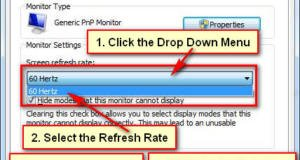 Change Refresh Rage in Windows 7