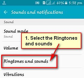 Change Ringtone on Android