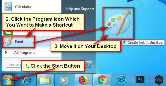 Create a Shortcut on Windows 7