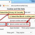Disable Cookies in Firefox