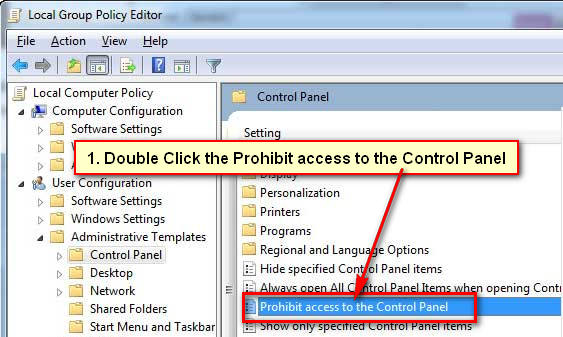 How to Hide Control Panel for User in Windows Server