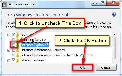 How to Uninstall Internet Explorer 7