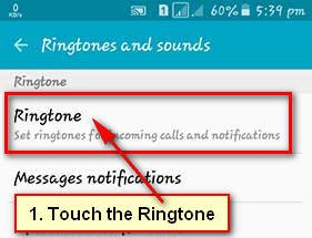 Ringtone on Android