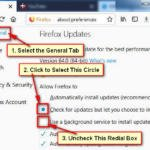 How to stop Firefox auto update