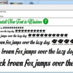 Download and Install New Font in Windows 7
