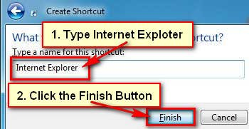 Create a Internet Explorer Browser Shortcut Icon