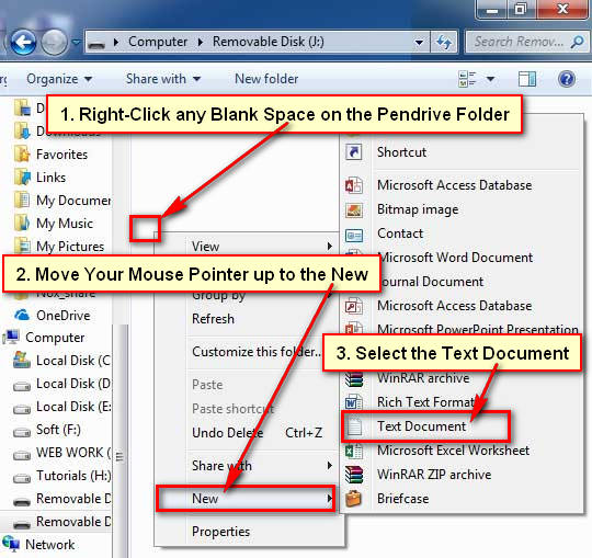Create New Text Document on Windows