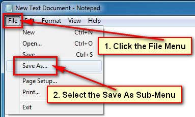Save New Text Document on Windows