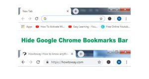 Hide Google Chrome Bookmarks Bar