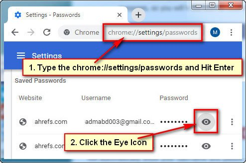 How to View Saved Passwords in Google Chrome