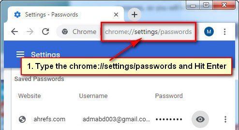How to Remove Saved Passwords on Chrome