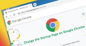 Change Startup Page Chrome
