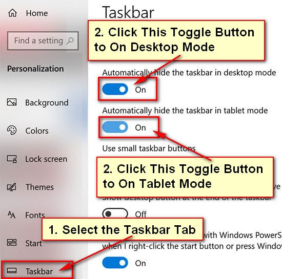 How to Hide the Taskbar in Games10 when Playing